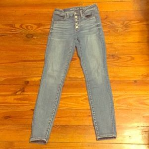 AE button jeans